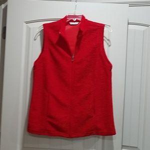 Ladies red vest